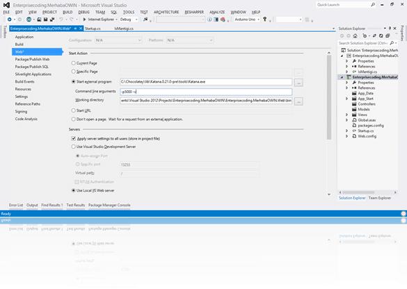 Visual-Studio-Start-External-Program